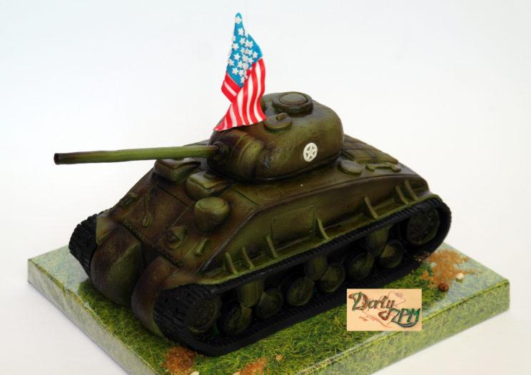 tank,M4,Sherman,americký,vlajka