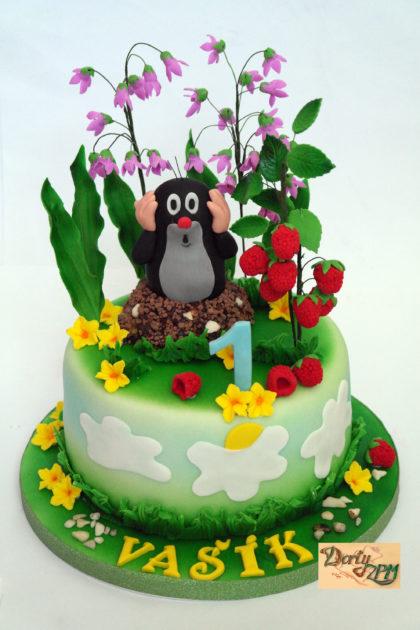dort,krtek,maliny,zvonky,potahovaný