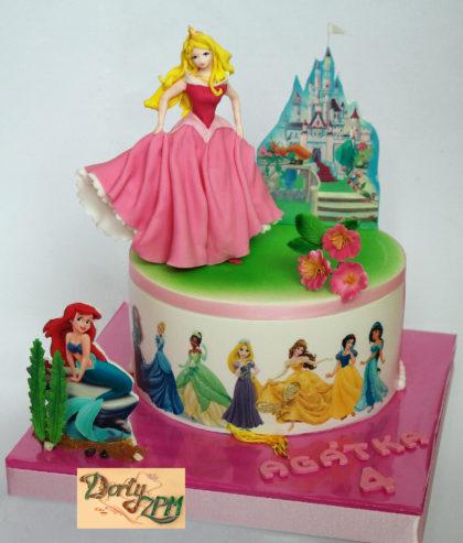 dort,cake,princezna,popelka,ariel,sněhurka
