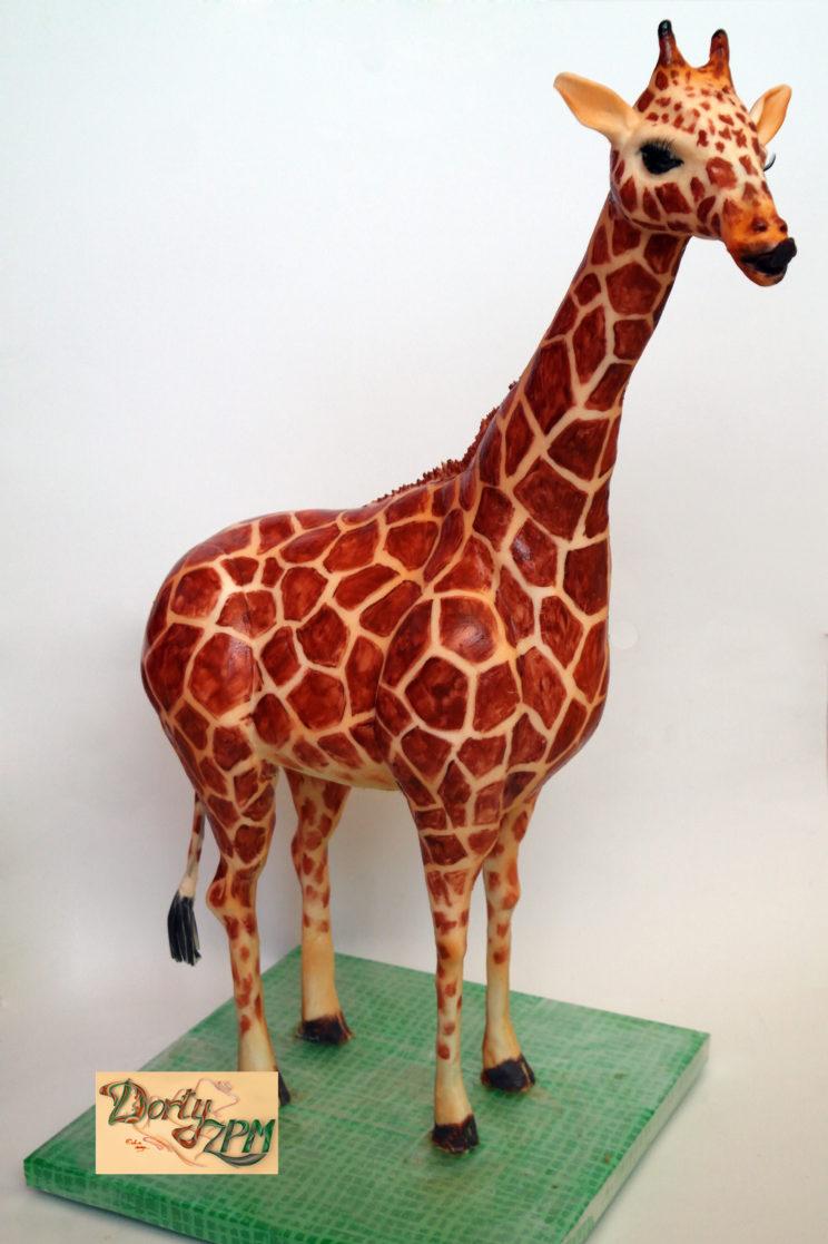 prostorové dorty žirafa